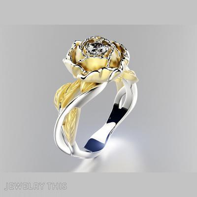 Ring Flower, Rings, Fashion