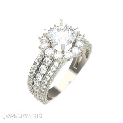 Elite Halo Engagment Ring, Rings, Engagement