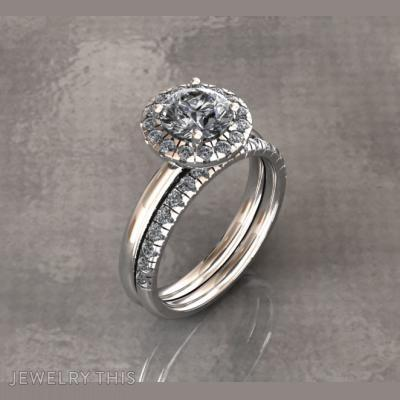 Halo Engagement Rings, Rings, Engagement