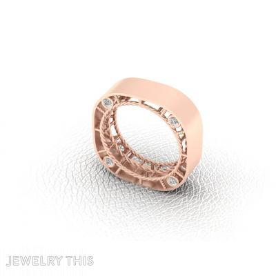 Reverse / Spider Web, Rings, Concave