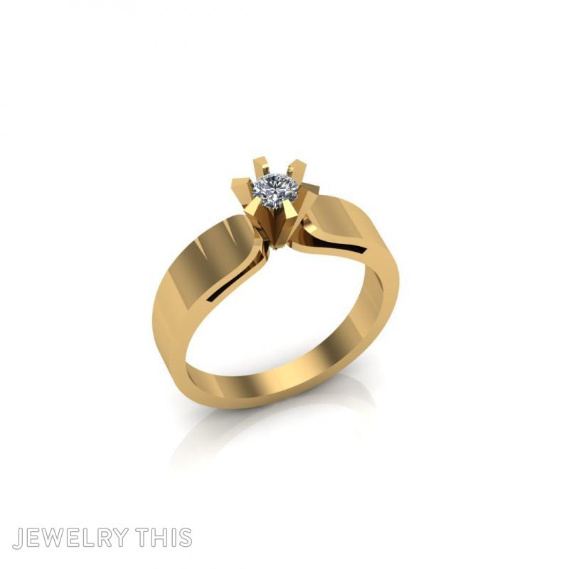 0614db45c3507 3D Jewelry Design: Small Diamond Ring Special » Jewelrythis ...