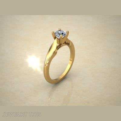 Beautiful Solitaire Worked, Rings, Engagement