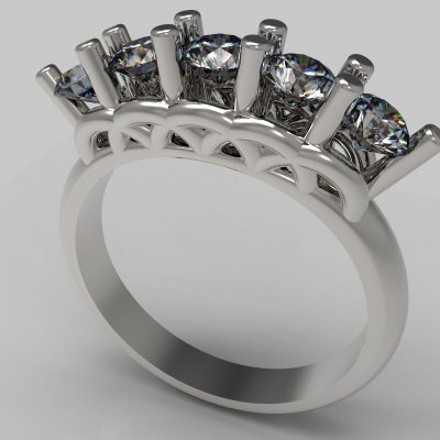 Five Stone, Rings, Engagement