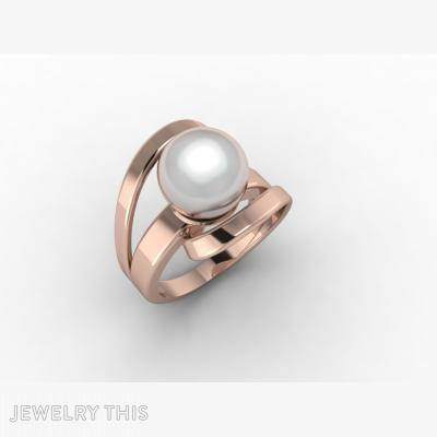 Pearl Ring, Rings, Cocktail
