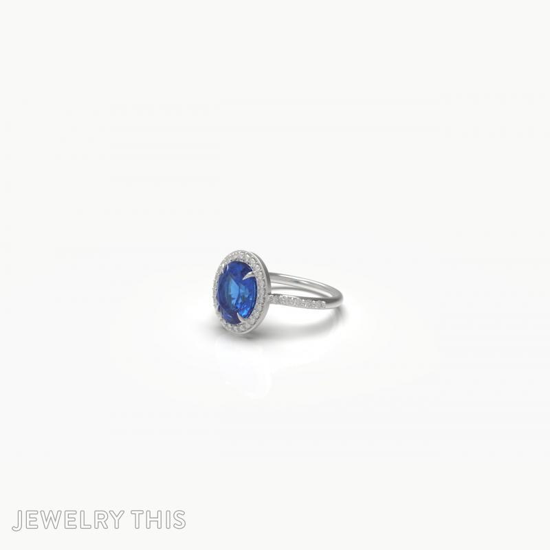 3D Jewelry Design: Oval Halo Ring » Jewelrythis ~ Jewelry