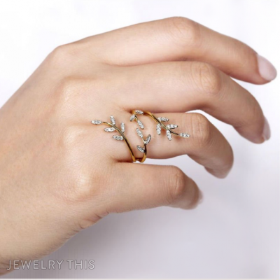 Delicate Branches Floral Ring, Rings, Fashion