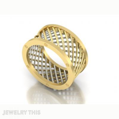 Pipe Dancing Ring Contemporary, Rings, Eternity Band