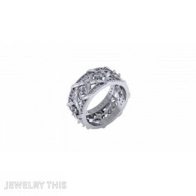 Knots Ring 3D Model, Rings, Concave