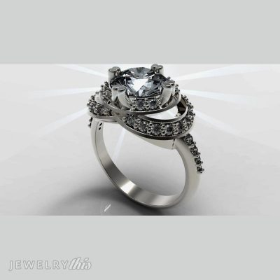 Elegant fashion ring - modern and classic