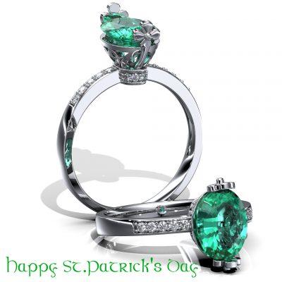 St. Patrick's Day Fashion Ring