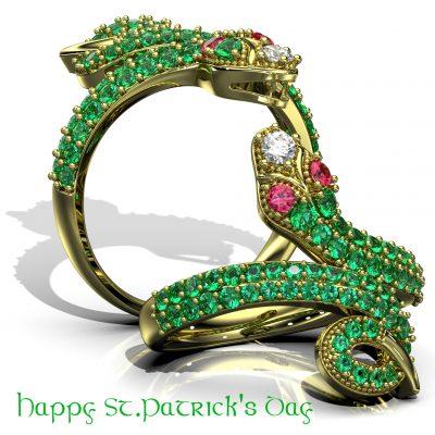 Jeweled Snake Fashion Ring