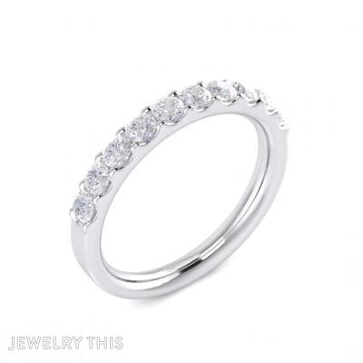 Fine Jewelry Wedding Ring Or 10-Stone Band, Rings, Wedding