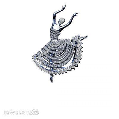 bead setting on dancing ballerina pendant