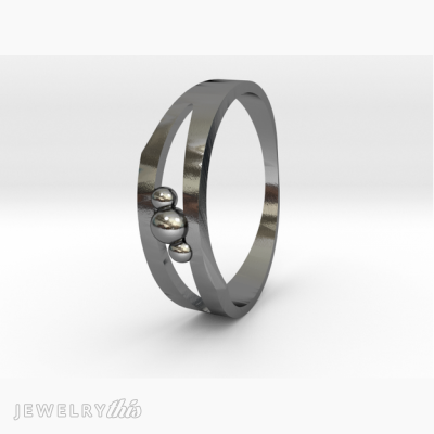 modern style fashion ring of Mars and its two satellites
