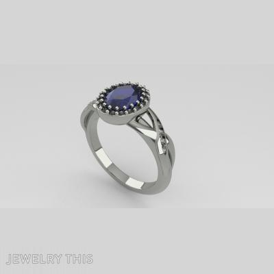 Oval Halo Ring, Rings, Engagement