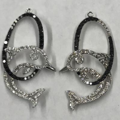 CAD jewelry dolphin earrings